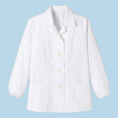 ボンマックス レディース衿付き和コート長袖 ホワイト LL (直送品)