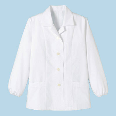 ボンマックス レディース衿付き和コート長袖 ホワイト 3L (直送品)