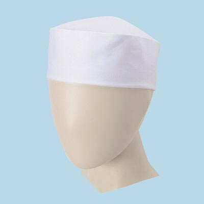 ボンマックス 和帽子 ホワイト L 1セット(3個入) (直送品)