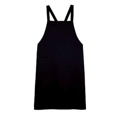 ボンマックス 胸当てエプロン ブラック FK7053-16-F (直送品)