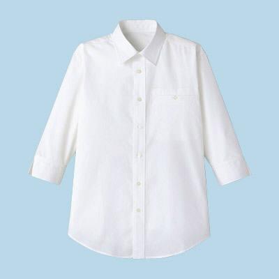 FACE MIX(フェイスミックス) 事務服 ユニセックス 七分袖シャツ ホワイト S (直送品)