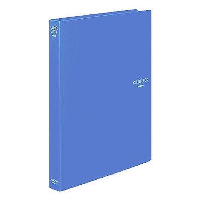 クリヤーブック30穴替紙式23P A4青