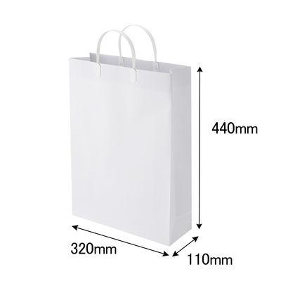 平紐 手提げ紙袋 白 L 5枚
