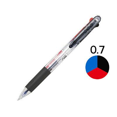 アスクル 3色ボールペン 0.7mm 10本