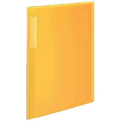 クリヤーブックノビータ固定式 20P 黄