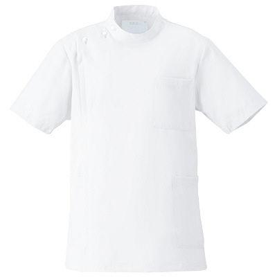 フォーク 男子医務衣 ホワイト S 1087-1 1枚 (直送品)