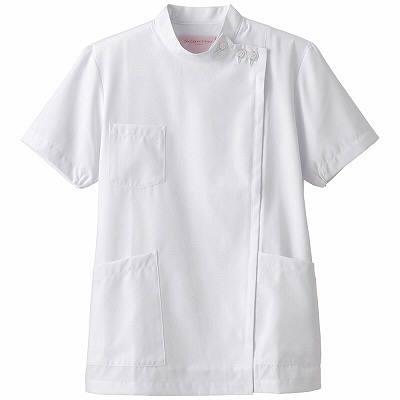 フォーク 女子医務衣 ホワイト EL 2089-1 1枚 (直送品)