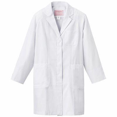 フォーク レディス診察衣(ハーフ丈) ホワイト L 2520-1 1枚 (直送品)