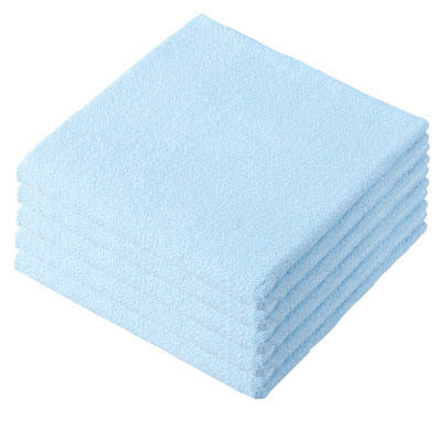 ペールカラーバスタオル ブルー 5枚入