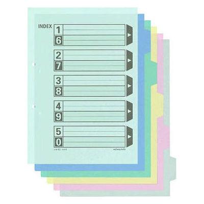 カラー仕切カード A4縦 5山 100組