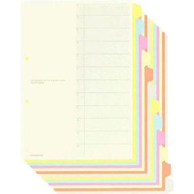 カラー仕切カード A4縦 12山 30組