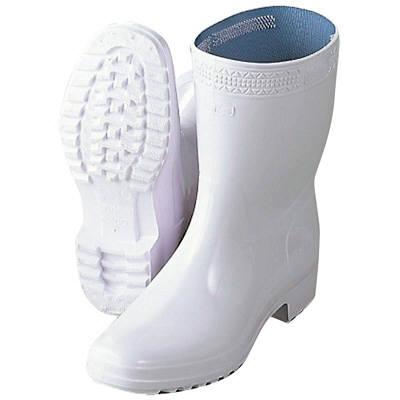 長靴 ハイルクスホワイト アキレス 25.5cm 5797400 (取寄品)