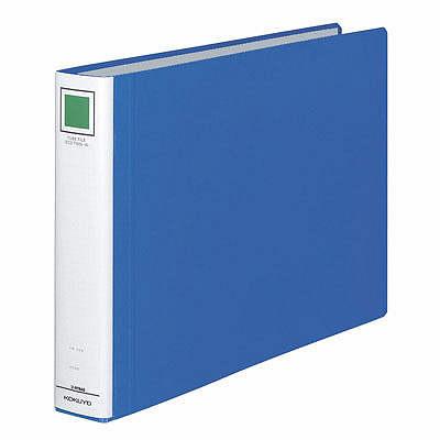 チューブファイル エコツインR B4ヨコ とじ厚40mm 青 12冊 コクヨ 両開きパイプ式ファイル フ-RT649B