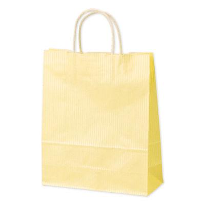 丸紐 手提げ紙袋 イエロー 小 50枚