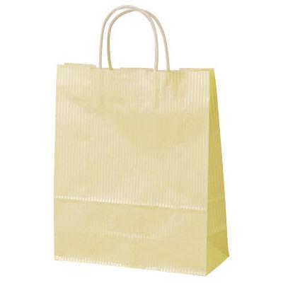 丸紐 手提げ紙袋 イエロー 大 50枚