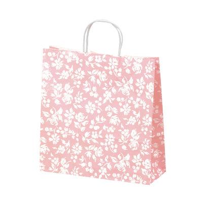 丸紐 手提げ紙袋 ピンク 中 50枚