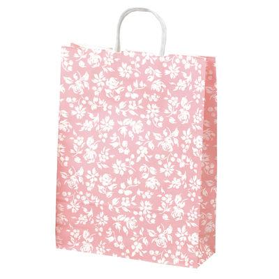 丸紐 手提げ紙袋 ピンク 大 50枚