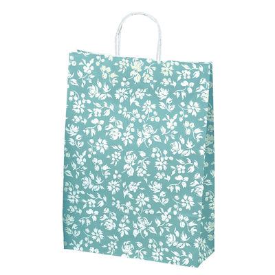 丸紐 手提げ紙袋 ブルー 大 50枚