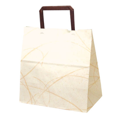 平紐 手提げ紙袋 ベージュ 平小 50枚
