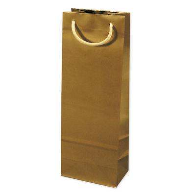 丸紐 手提げ紙袋 ゴールド 20枚