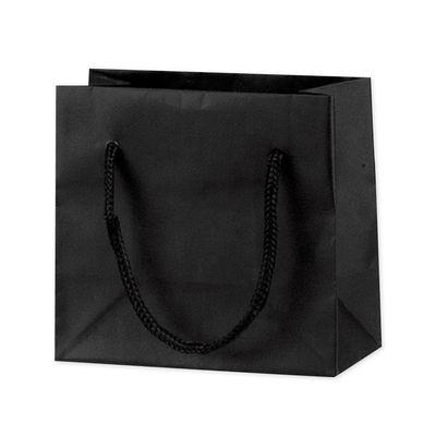 丸紐 手提げ紙袋 ブラック 20枚