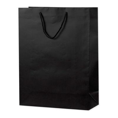 丸紐 手提げ紙袋 ブラック LL 10枚