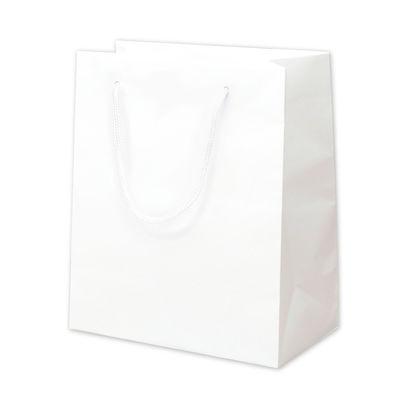 丸紐 手提げ紙袋 ホワイト 10枚