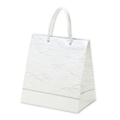 平紐 手提げ紙袋 白 10枚