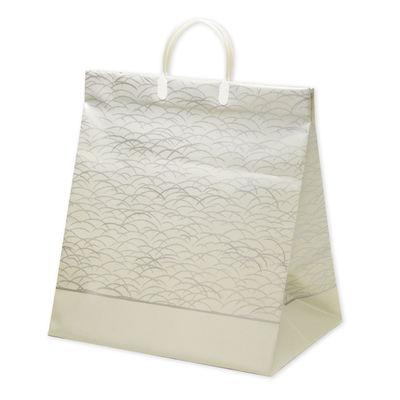 平紐 手提げ紙袋 グレー 大 5枚