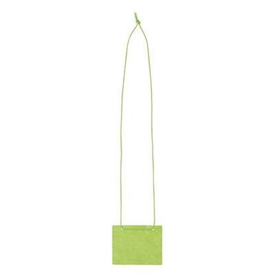 イベント用名札 名刺サイズ 不織布タイプ 緑 300組 ソニック