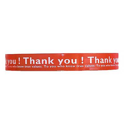 ヘッズ 店舗用テープ 10巻 Thank you! 赤 1セット(10巻:1巻×10)