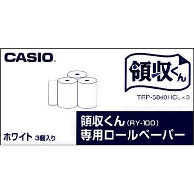 カシオ計算機 カシオ「領収くん」用 ロールペーパー 1セット(15個入) 高保存タイプ 白 TRP-5840HCLX3