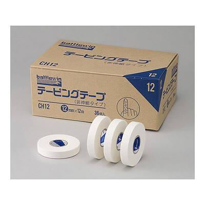 ニチバン バトルウィンテーピングテープ(非伸縮タイプ) 12mm×12m CH12 1箱(36巻入) (取寄品)
