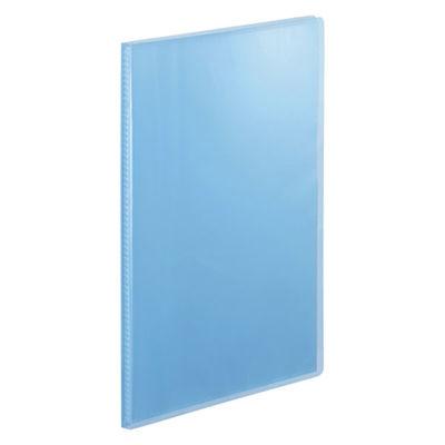 テージー クリアファイル 固定式20ポケット 10冊 A4タテ 透明表紙 ブルー マイホルダー