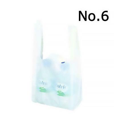 レジ袋 乳白 No.6 3000枚