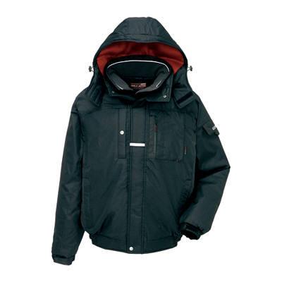 アイトス AZ6061-010 防寒ブルゾン ブラック M (直送品)