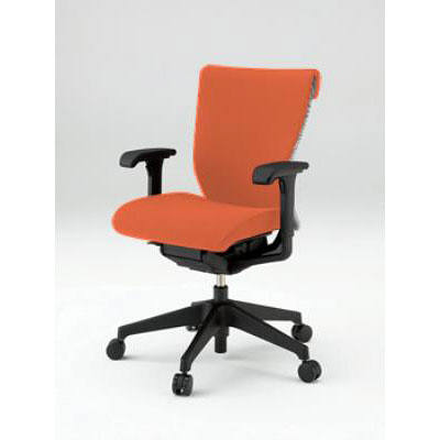 イトーキ コセール オフィスチェア ローバック 背裏ボーダー アジャスタブル肘付 オレンジ/ライトグレー KE-987GS-T1D3C5 1脚 (直送品)