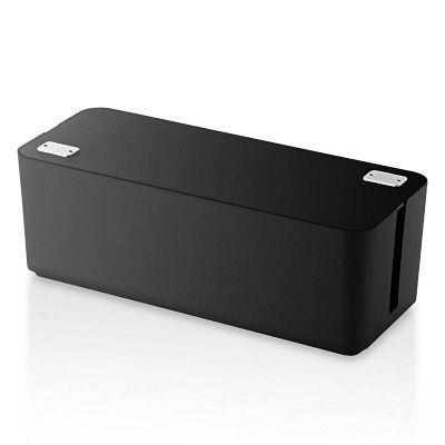 エレコム ケーブル収納ボックス 6個口 ブラック EKC-BOX001BK (取寄品)