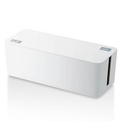 エレコム ケーブル収納ボックス 6個口 ホワイト EKC-BOX001WH (取寄品)