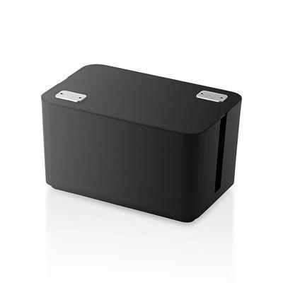 エレコム ケーブル収納ボックス 4個口 ブラック EKC-BOX002BK (直送品)