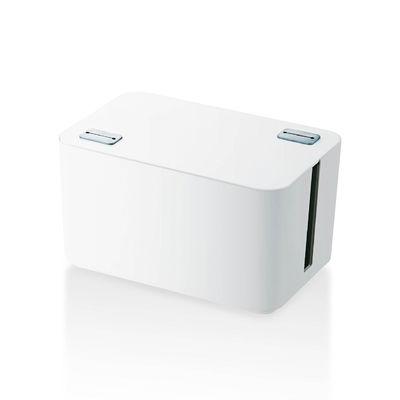 エレコム ケーブル収納ボックス 4個口 ホワイト EKC-BOX002WH (直送品)