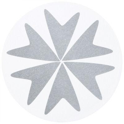 ペーパーコースター フラワーグレー 1セット(300枚:100枚入×3パック) カミイソ産商