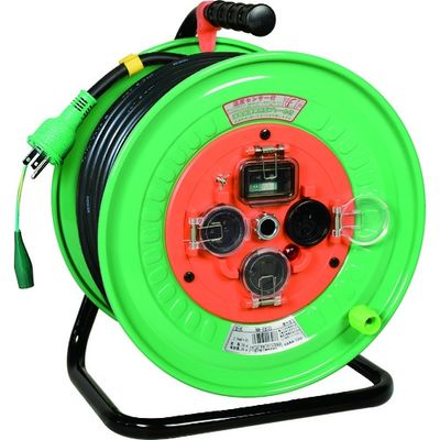 日動工業 電工ドラム 防雨防塵型100Vドラム アース漏電しゃ断器付 30m NW-EB33 1台 125-5878 (直送品)