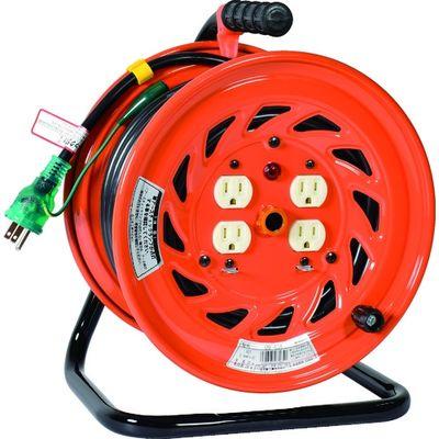 日動工業 特殊機能付電工ドラム アースチェックリール アース付 30m GNF-E34 1台 209-8792 (直送品)