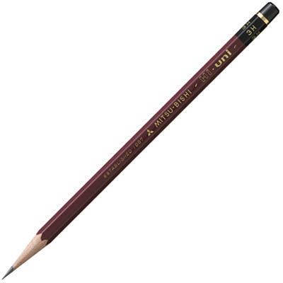 三菱鉛筆(uni) ハイユニ 3H HU3H 1箱(6ダース入:12本×6) (取寄品)