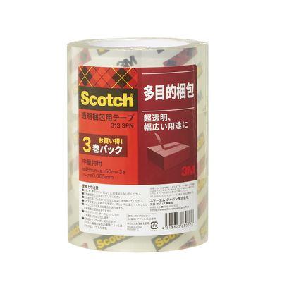 スリーエム スコッチ(R) 透明梱包用テープ クリア 1セット(3巻×2パック入)