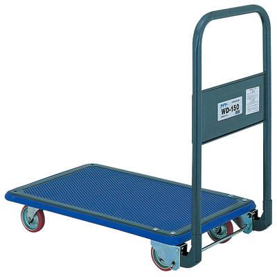 IKキャリー スチール製折たたみフルフラット荷台台車 150kg荷重 WD-150 石川製作所 (直送品)