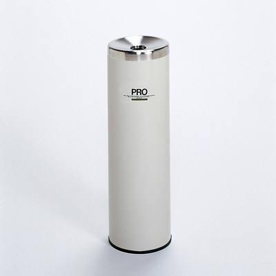 テラモト プロタワー灰皿 (S、白) SS-266-410-5 (直送品)