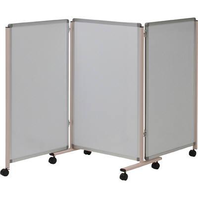 コマイ 三連落書きボード(ホワイトボード/ホワイトボード)W600mm LB-32SSWW (直送品)