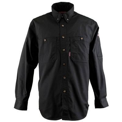 カジメイク ボタンダウンシャツ ブラック 3L (取寄品)